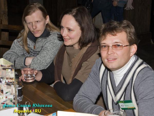 справа налево: praeclara (Владимир), Речка (Наташа), Сергей (муж Речки)