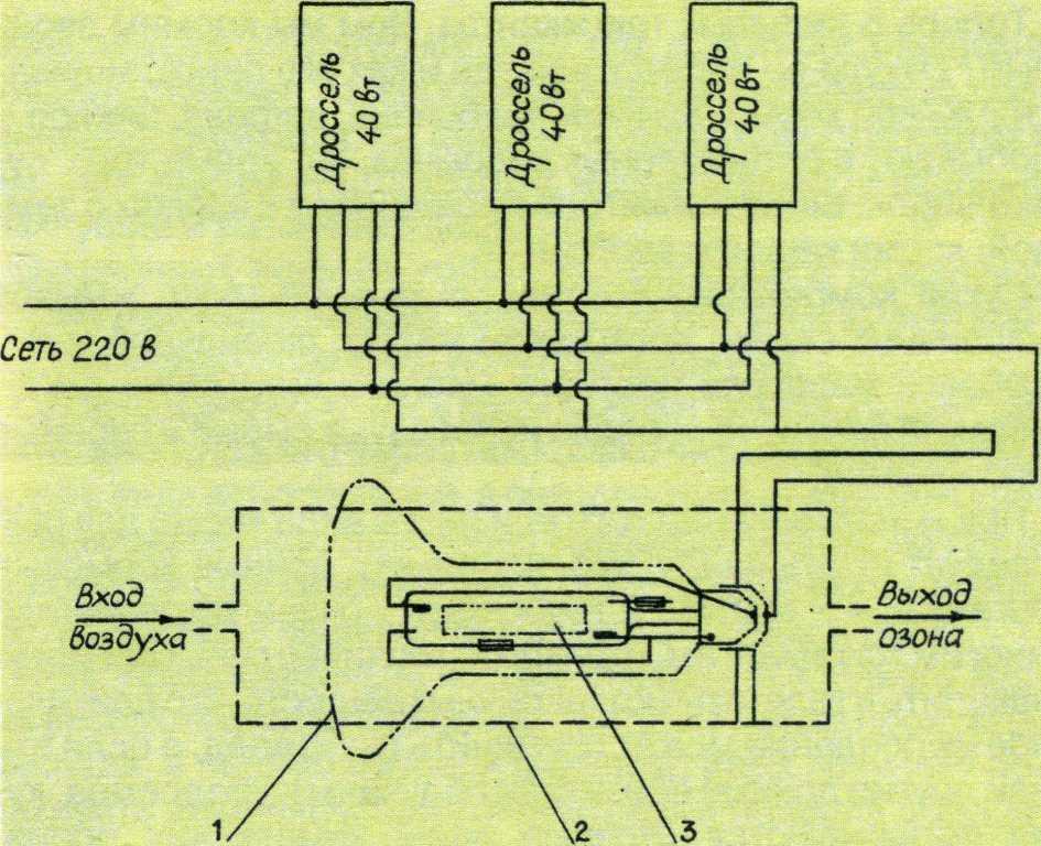 Схема подключения ртутного