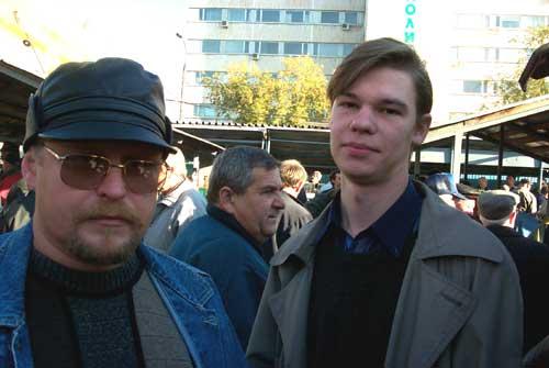 Слева Слава Семыкин, справа Костя Шидловский